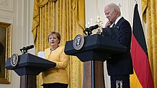 Merkelová na rozlučkové návštěvě v Bílém domě. S Bidenem jednala o klimatu, koronavirové krizi i Nord Streamu 2