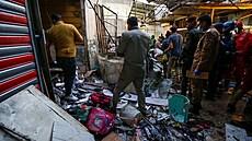 V Bagdádu zabíjela bomba nastražená na tržišti, výbuch připravil o život nejméně tři desítky lidí