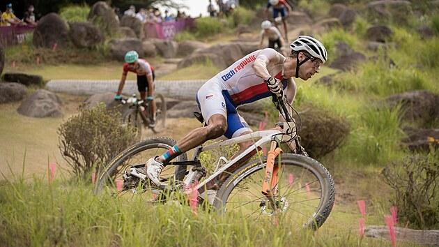 Biker Ondřej Cink během olympijského závodu.