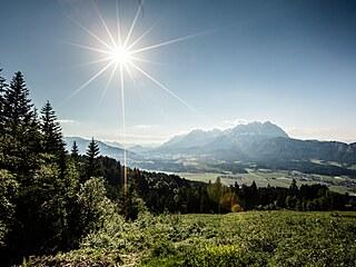 Nezapomenutelná panoramata. V Tyrolsku jich je bezpočet. Patří k nim i výhled z...