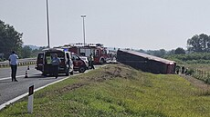 Na chorvatské dálnici havaroval autobus, nejméně deset lidí nehodu nepřežilo