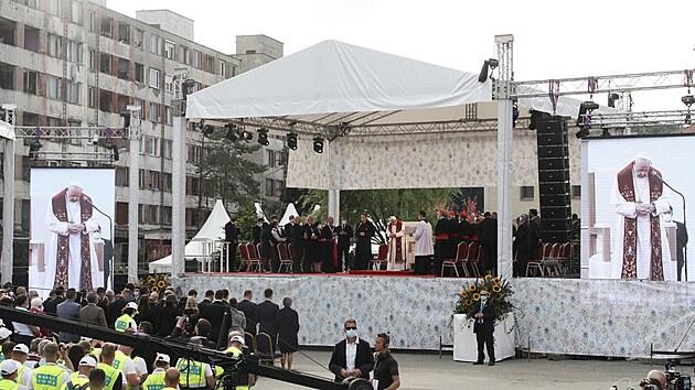 Papež František na košickém sídlišti Luník iX