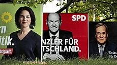 Německý souboj 'naplavenin'. Kandidáti na kancléře Baerbocková a Scholz se utkají kousek od Berlína