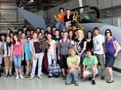 Studenti na letecké základně v Čáslavi v rámci projektu Poznej NATO