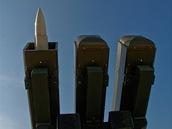 Modernizovaný protiletadlový raketový komplex 2K12 - KUB na pardubickém letišti