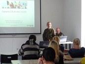 Prezentace o zapojení české republiky do misí NATO pro studenty gymnázia v IC