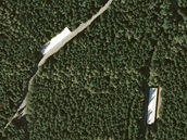 Komplex muniční základny u Hostašovic na Novojičínsku z leteckého snímku