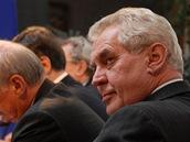 Miloš Zeman během debaty prezidentských kandidátů na téma