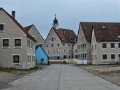 Jedno z velkých uměle vybudovaných měst v americkém výcvikovém centru poblíž německého Hohenfelsu
