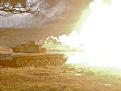 Protiútok českých sil během cvičení Sabre Junction II v německém Hohenfelsu