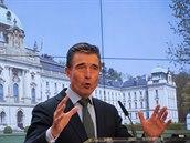 Generální tajemník NATO Anders Fogh Rasmussen v Praze