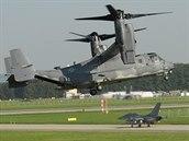 Americký konvertoplán CV-22B Osprey na Dnech NATO v Ostravě