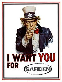 US Army I want you for Sarden