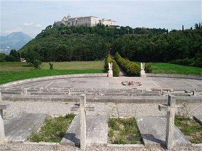 Monte Cassino Abbey view from Polish cemetery