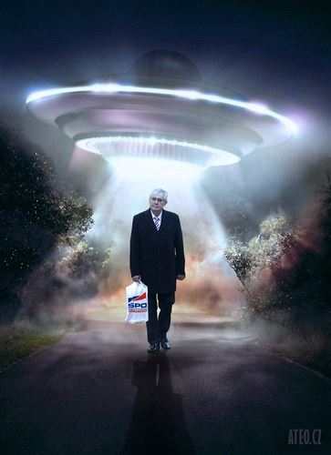 Mimozemšťan a taškář (© aTeo) http://ateo.cz