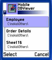 Mobile Database Viewer
