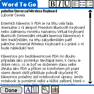 palmOne Universal Wireless Keyboard