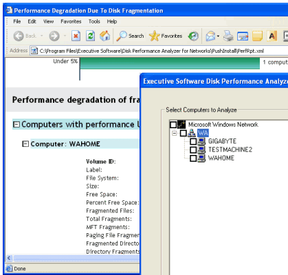 Disk Performance Analyzer for Networks