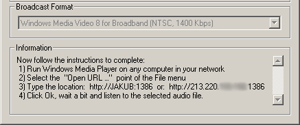 MightSoft Audio Broadcast Server