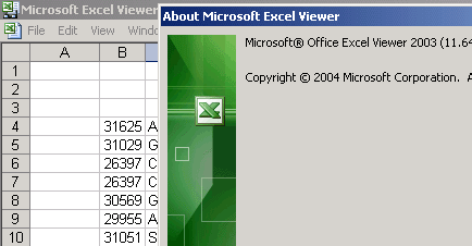 excel 2003 viewer