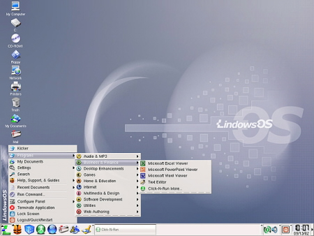 Lindows 2.0 desktop