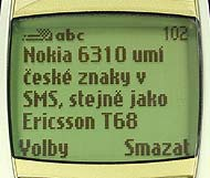 Nokia 6310-displej