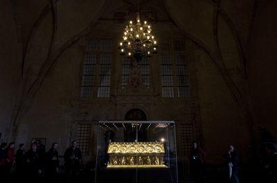 Relikviář sv. Maura byl k vidění na výstavě na Pražském hradě.